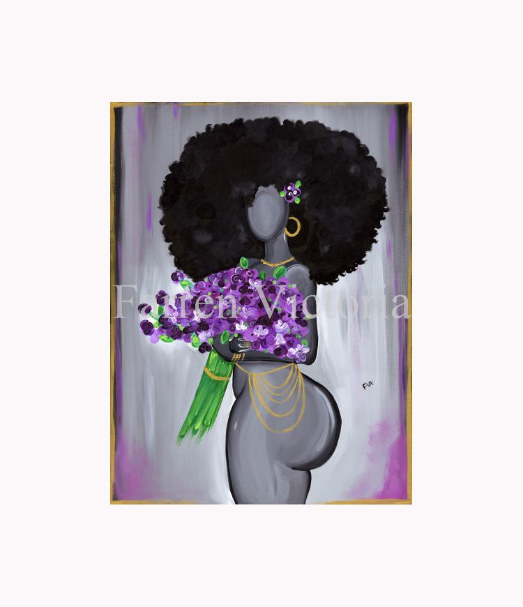 Image of Violet Canvas Print