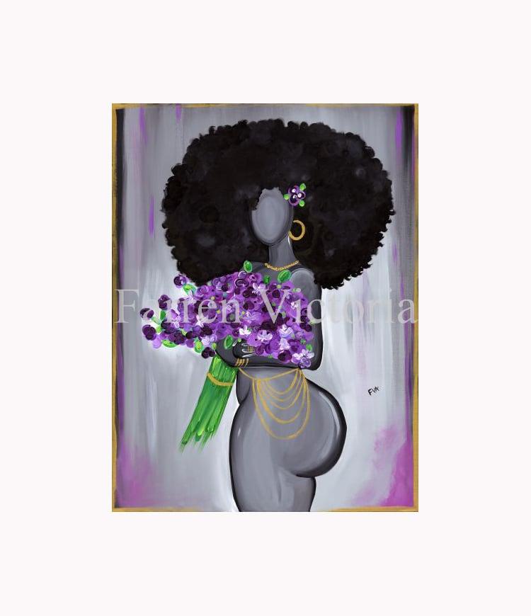Image of Violet Canvas Print