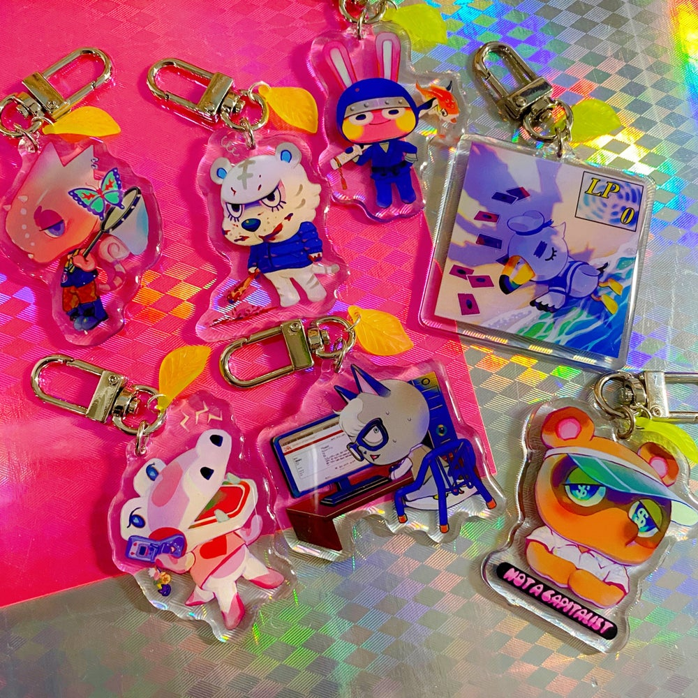 Animal Crossing Acrylic Charms
