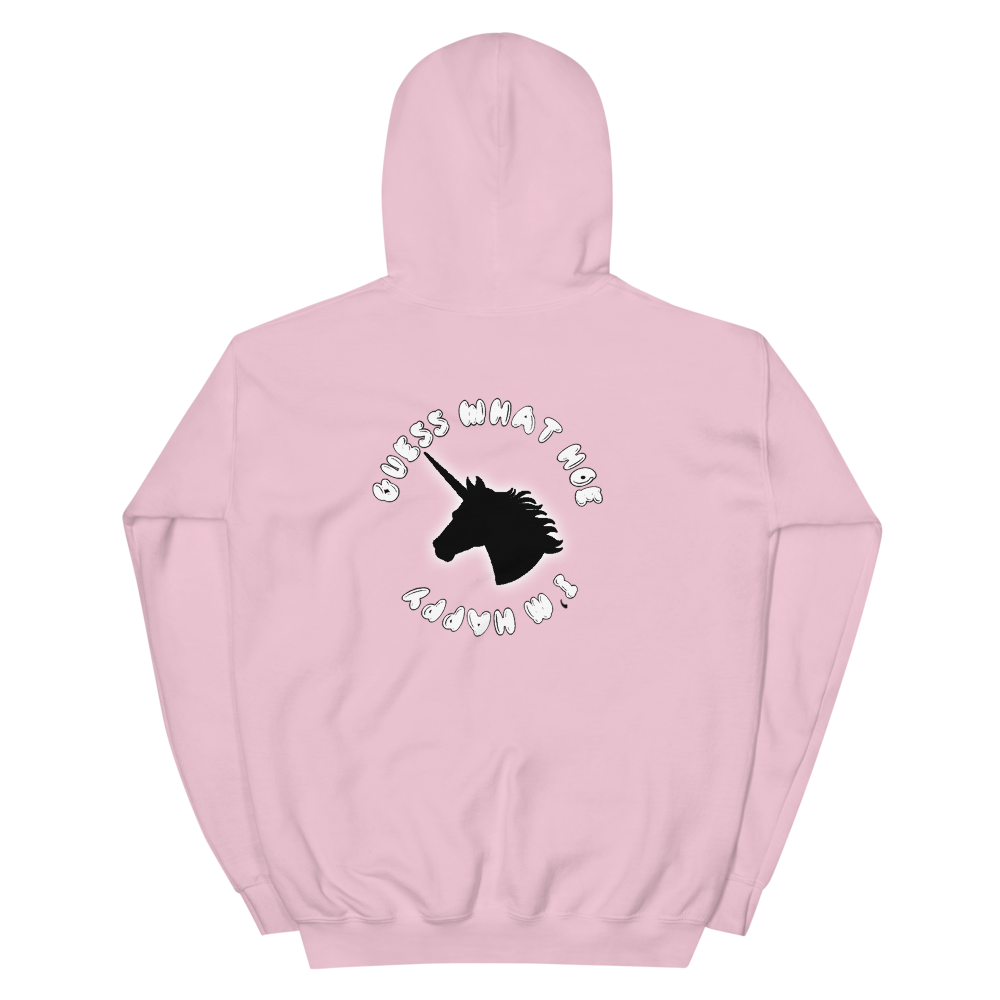 Image of Guess What Hoe I'm Happy Hoodie (Pink)