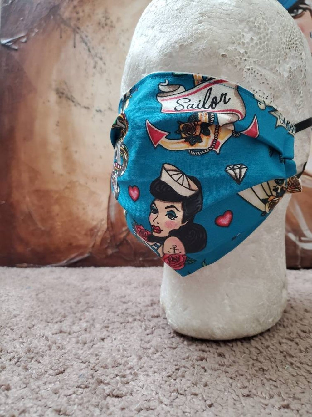 Pin Up Sailor Jerry Themed Mask