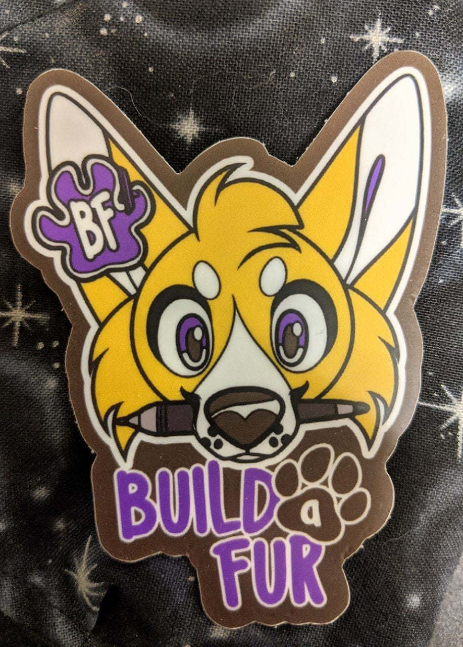 Image of Build-A-Fur Brand stickers