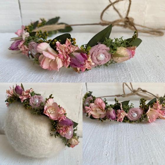 Image of Pink rose crown
