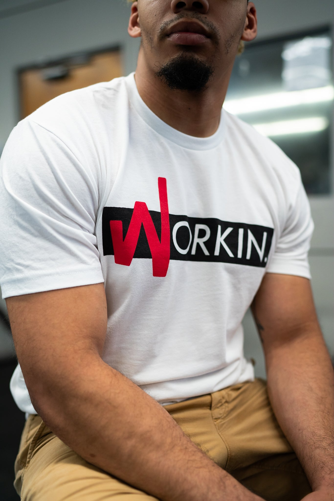 Image of WORKIN. Tee