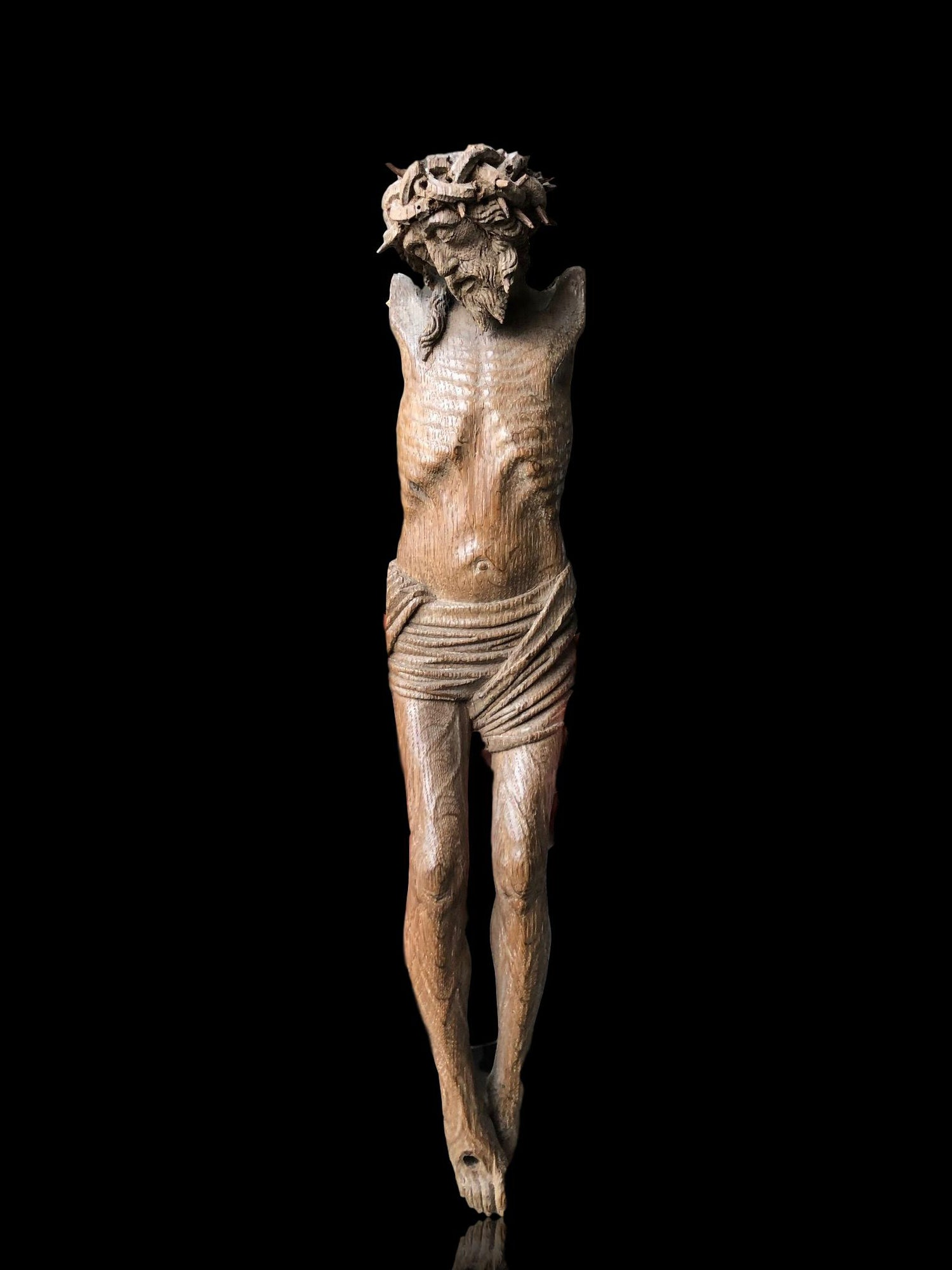 Image of Late 15th century Gothic Netherlandish Christ in Oak