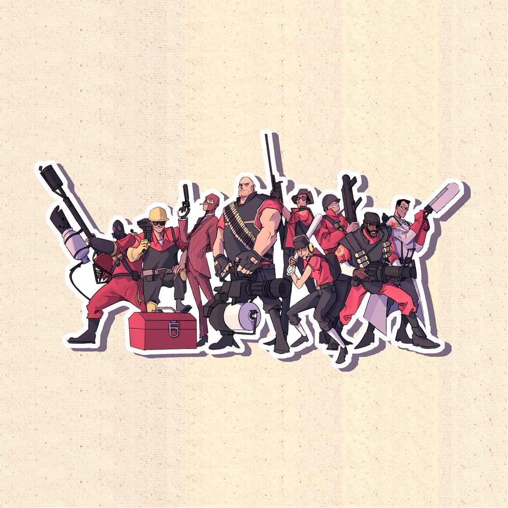 Image of Team Fortress 2 RED Team Sticker