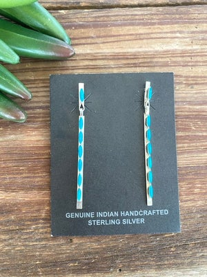 Modern Turquoise Dangles