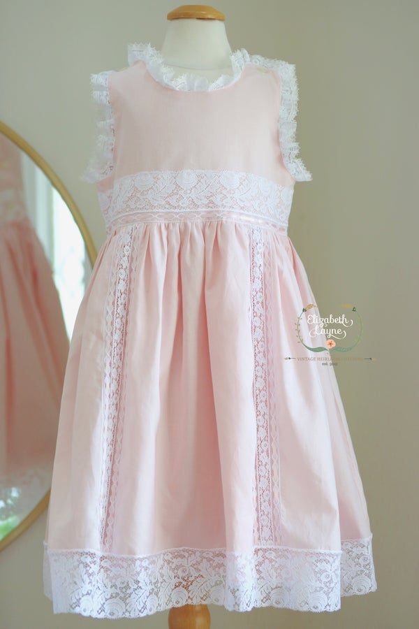 Image of Size 4/5 Swiss Pink Nelona Princess Dress