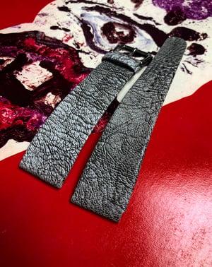 Image of Hand-rolled rembordé watch strap - vintage marble goatskin