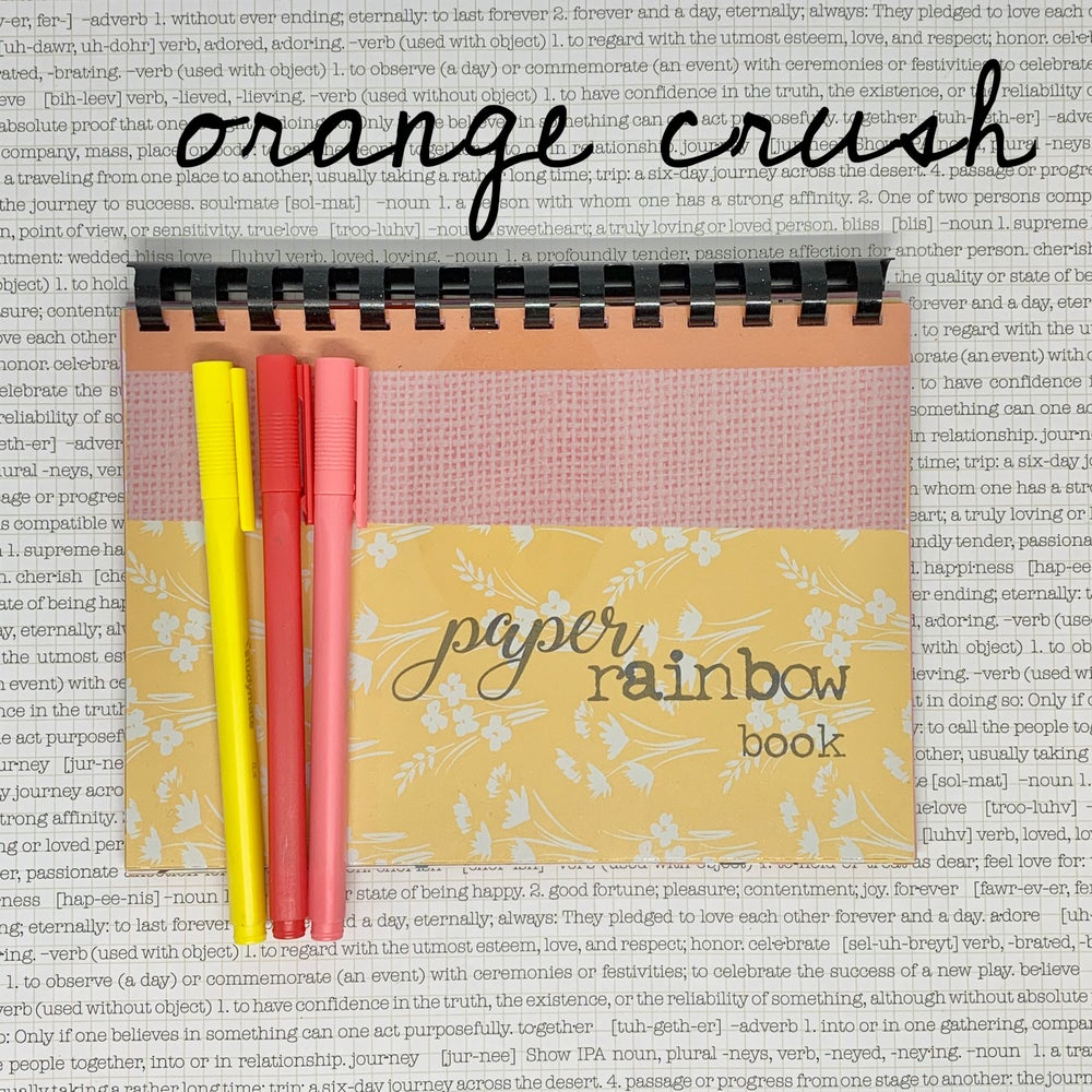 Image of paper rainbow book - brights