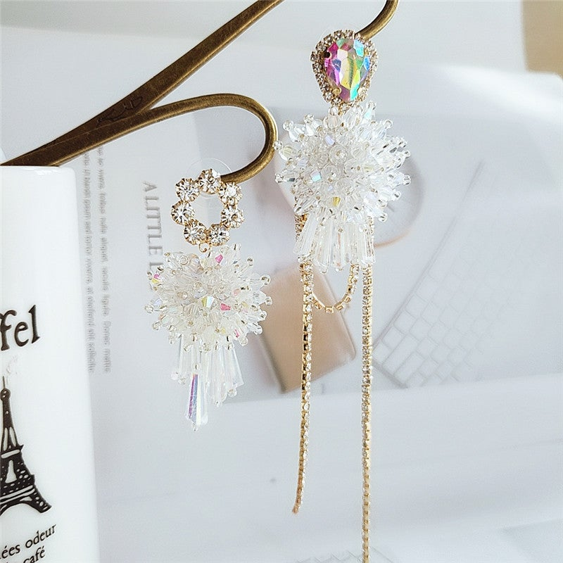Image of Crystal High-Low Earrings