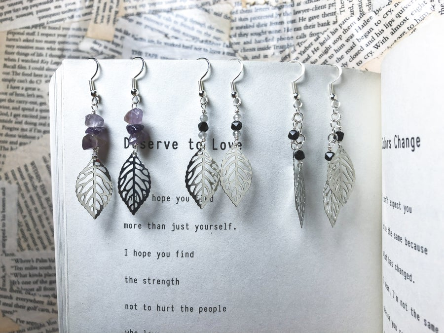 Image of Crystal Leaf Earrings