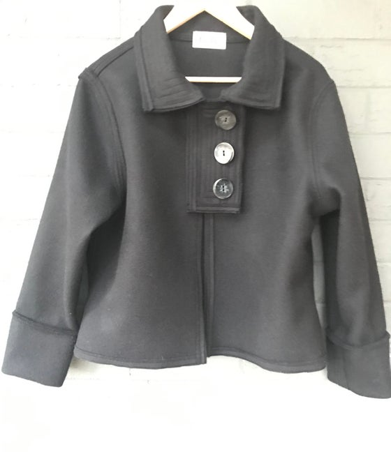 Image of KylieJane Placket Jacket- black wool