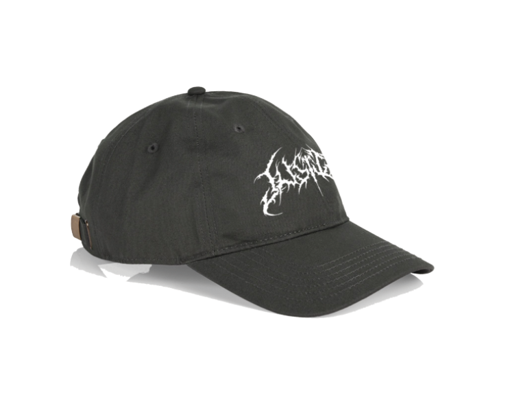 Image of Charcoal Death Metal Logo Dad Hat