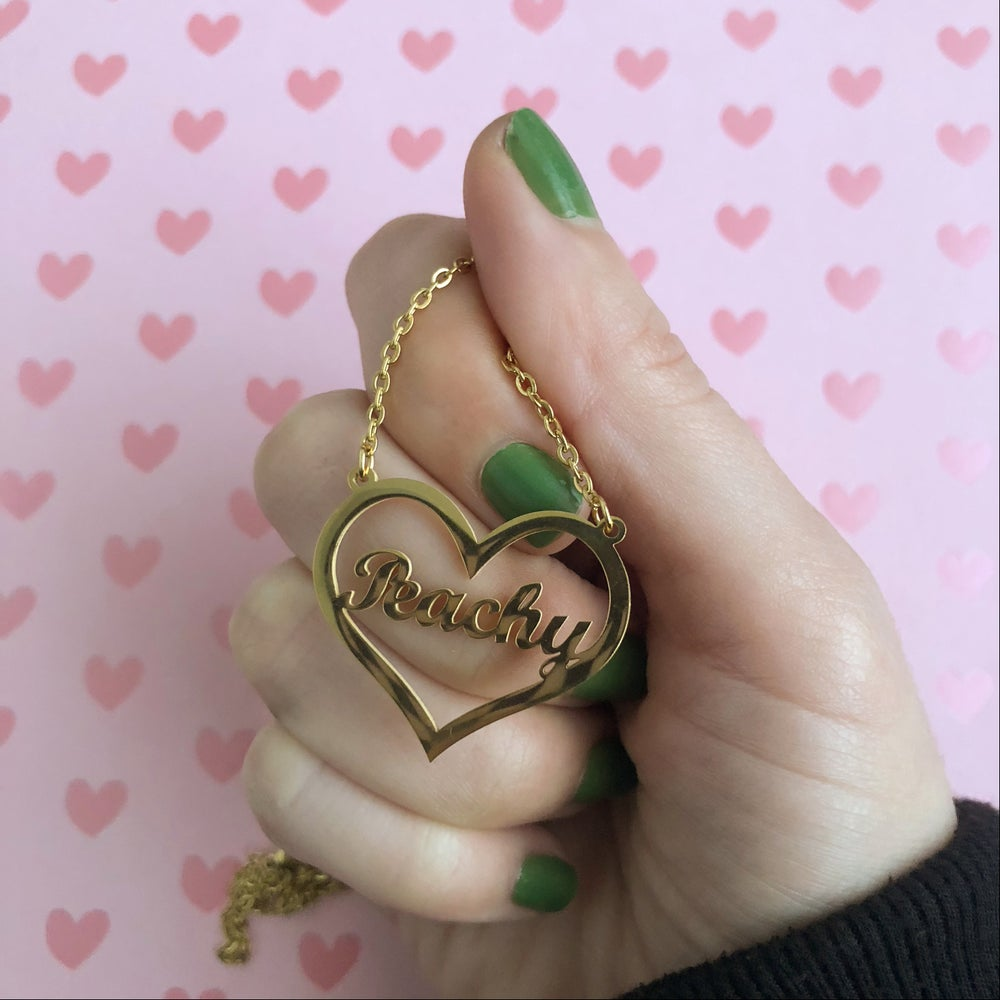 Image of HEART NAME / WORD PENDANT