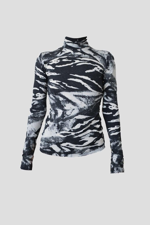 Image of abstract zebra shirt
