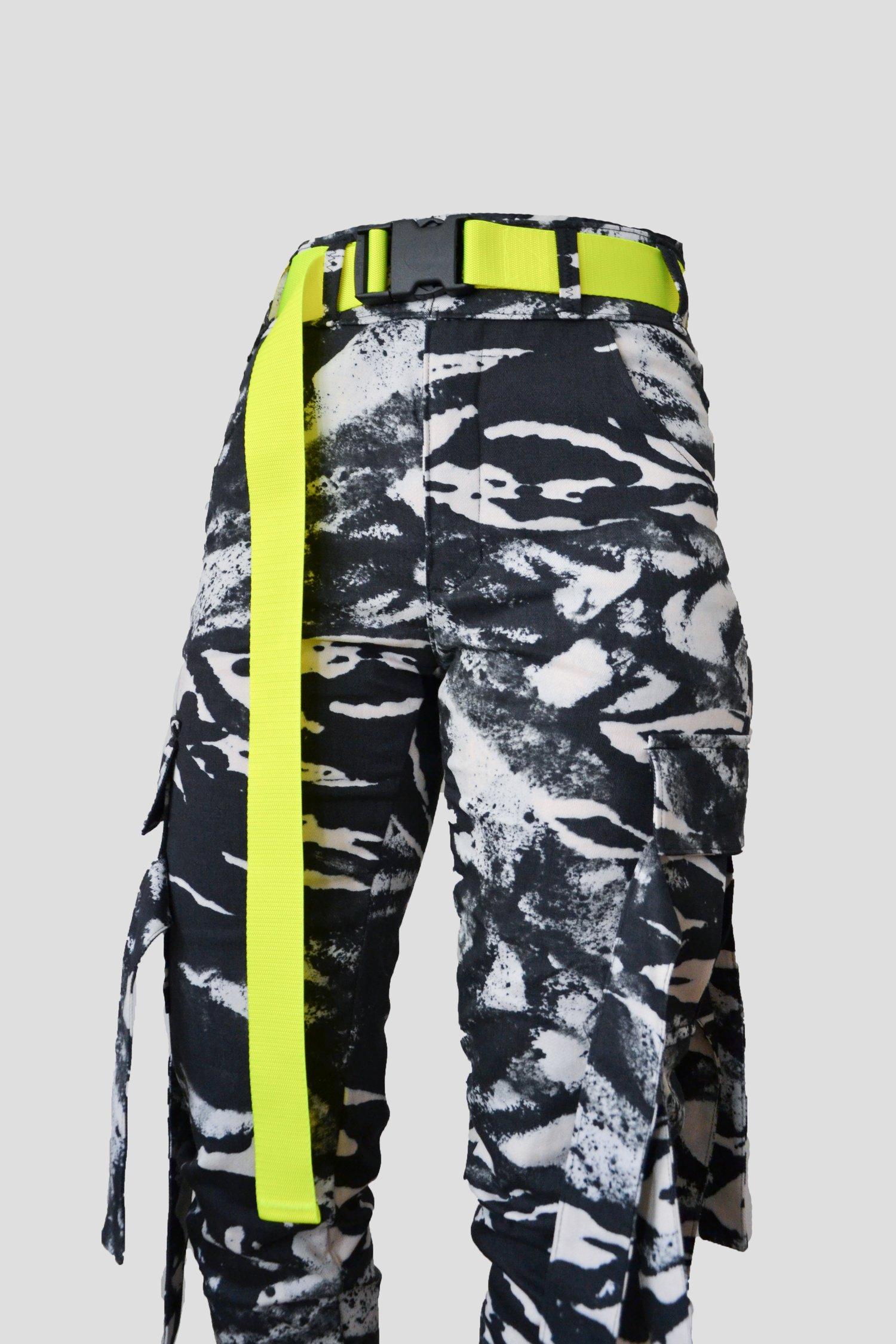 Image of cargo pants - abstract zebra