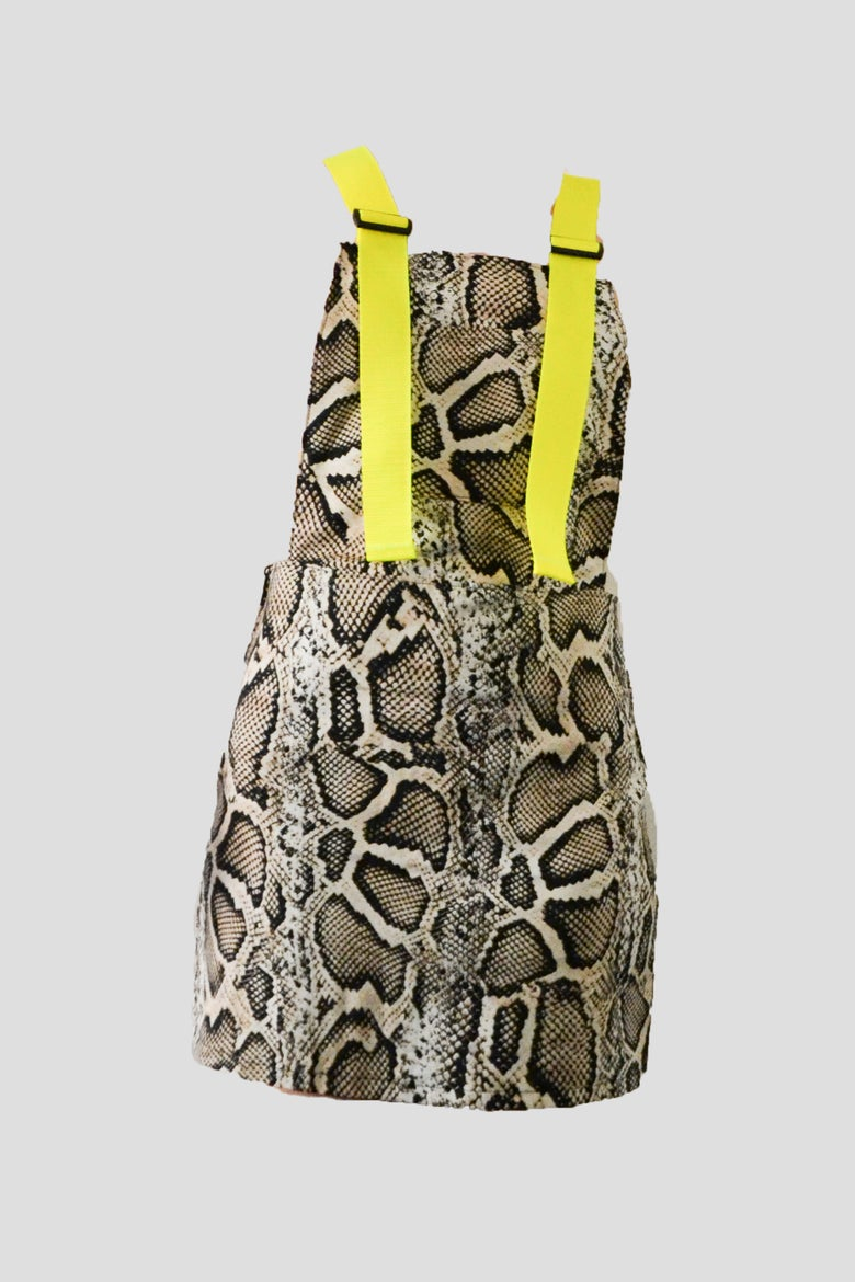 Image of snake overall dress