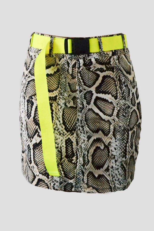 Image of snake mini skirt