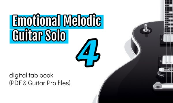 Image of Emotional Melodic Guitar Solo 4 Digital Tab Book