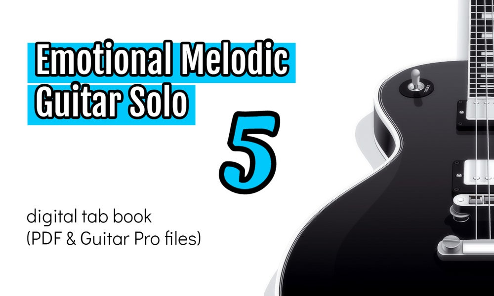 Image of Emotional Melodic Guitar Solo 5 Digital Tab Book