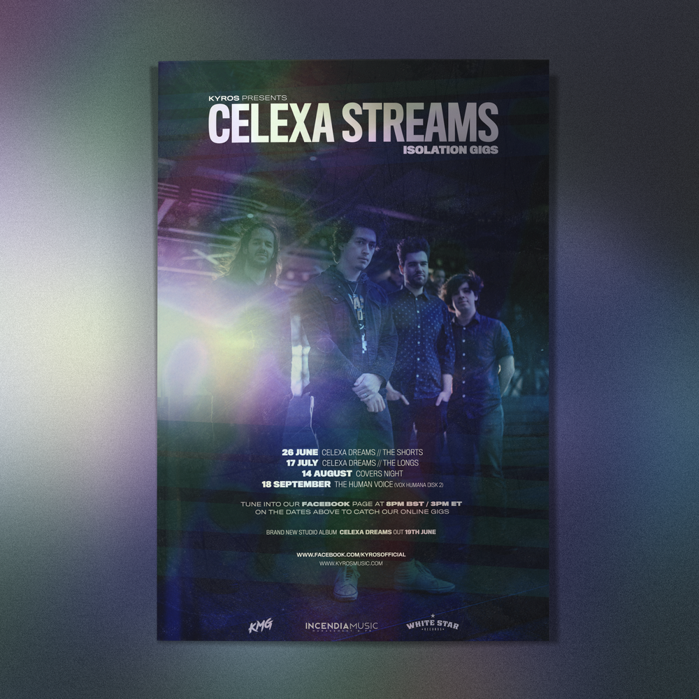 Image of Celexa Streams -A3  Tour Poster