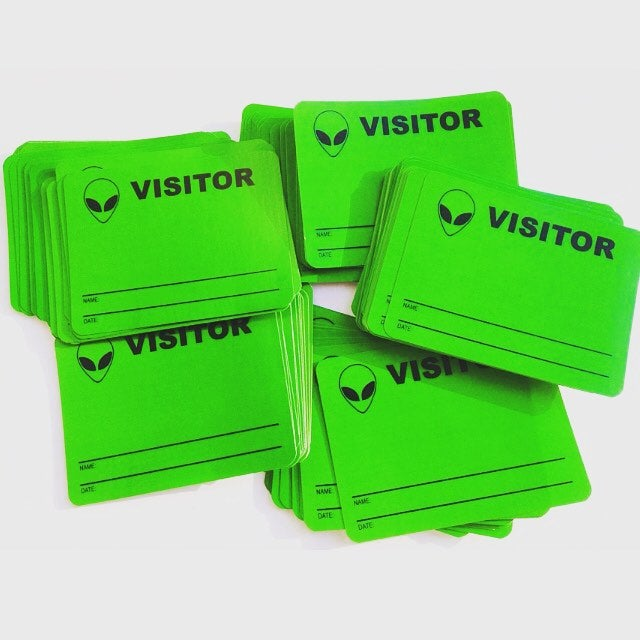 Image of Visitor Blanks