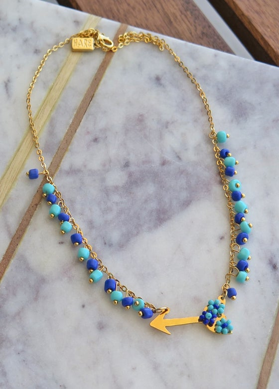 Image of Arrow Blue Necklace