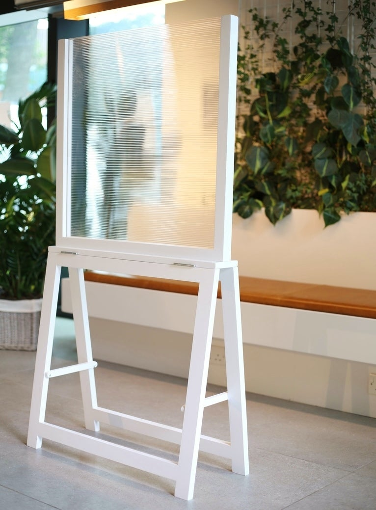 Image of WHITE - FLOOR STANDING SOCIAL DISTANCING SCREEN