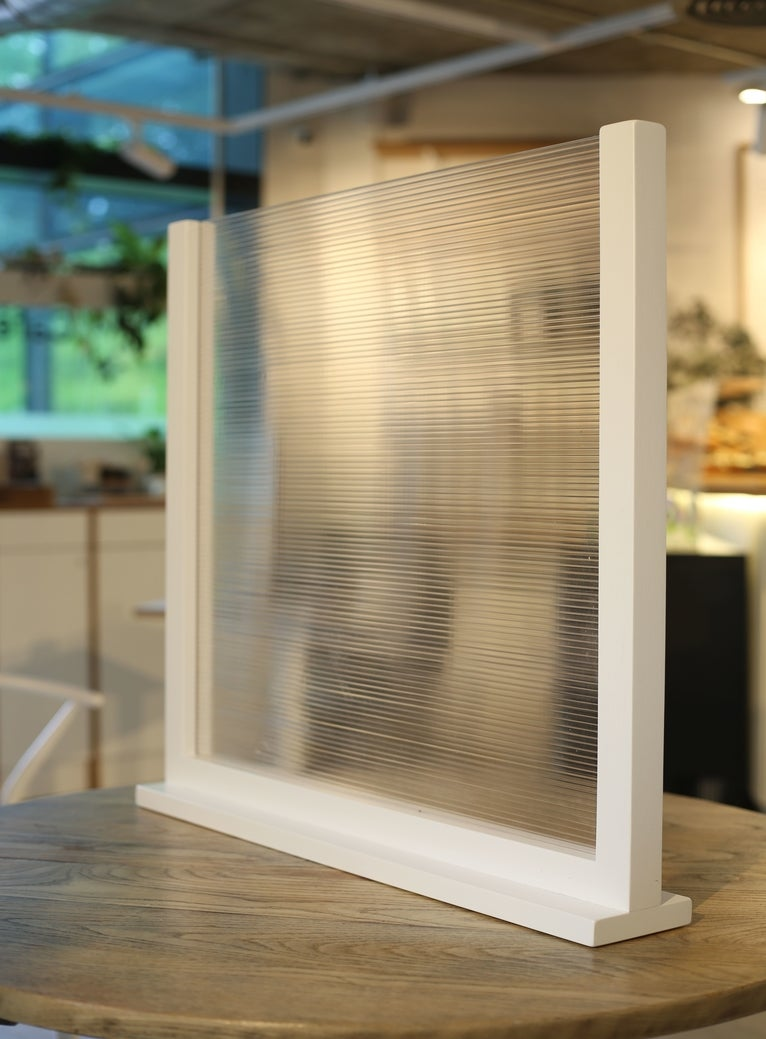 Image of WHITE - FREESTANDING COUNTER TOP SCREEN