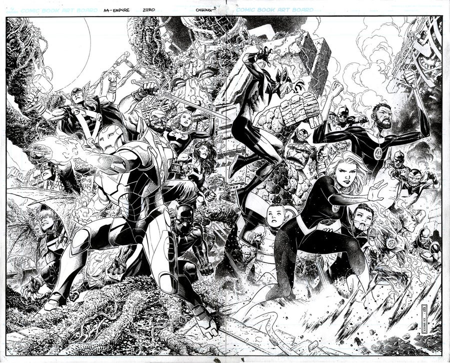 Image of EMPYRE #0 AVENGERS FANTASTIC FOUR Cover