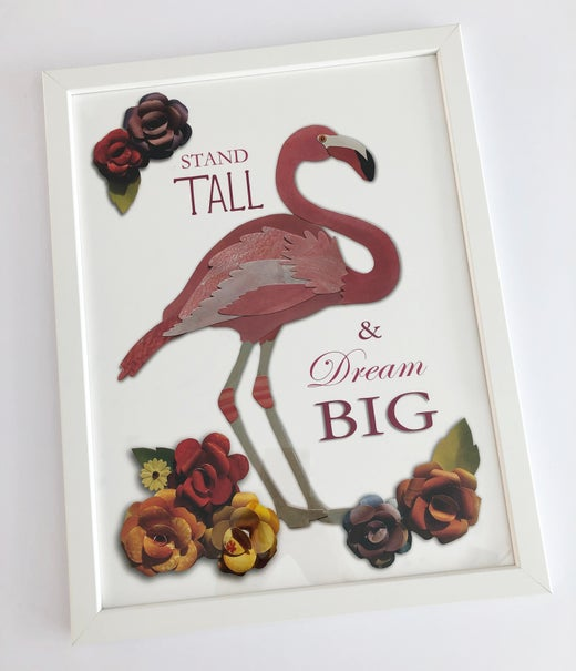 Rocket & Co.  - A3 Flamingo Print framed