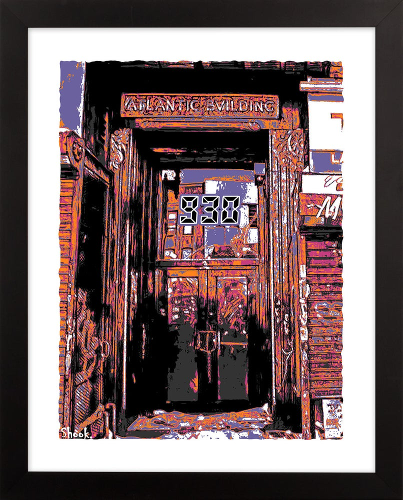 "Image of Nightclub 9:30 Doorway Giclée Art Print (Pop Art Colors) - 11"" x 14"""