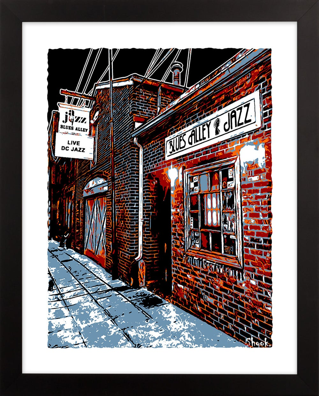 "Blues Alley Giclée Art Print - 11"" x 14"""