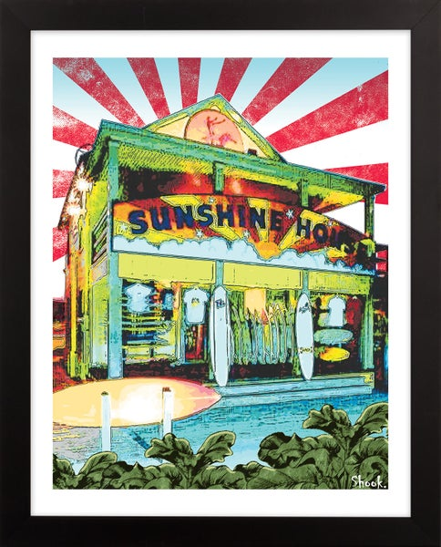 "Image of Sunshine House Surf Shop Giclée Art Print - 8"" x 10"""
