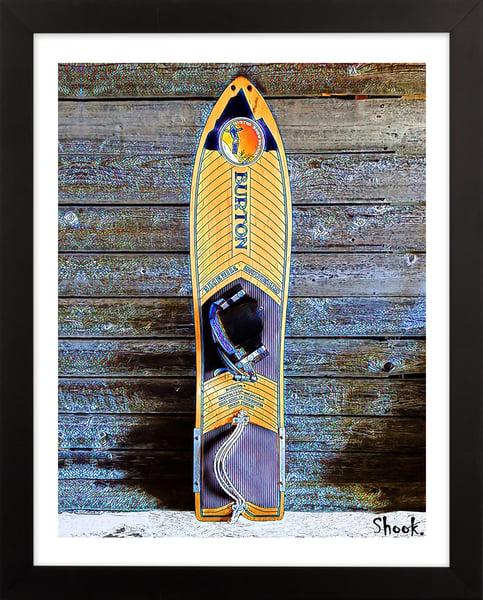 "Image of Burton ""Backhill"" Snowboard  Giclée Art Print - 8"" x 10"""
