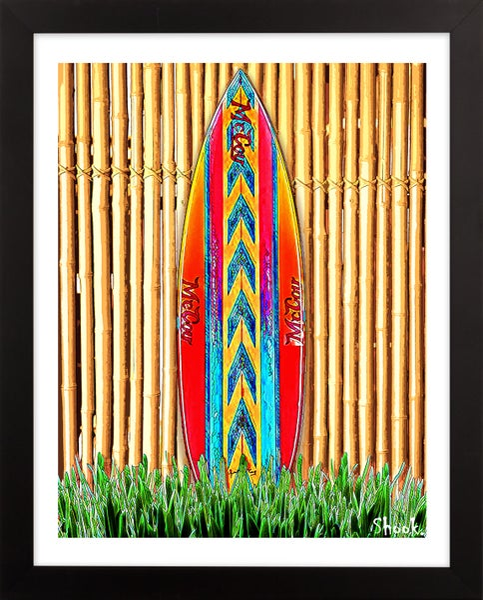 "Image of McCoy ""Lazor Zap"" Surfboard  Giclée Art Print - 8"" x 10"""