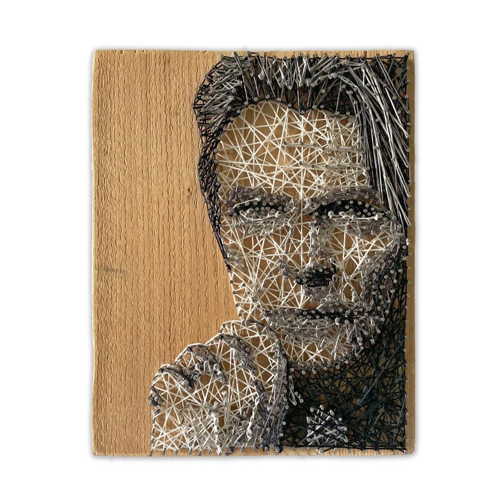 David Bowie String Art Portrait Sculpture by Ashley Darran