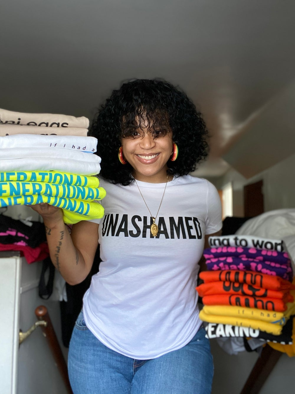 The Unashamed Tee in White and Black