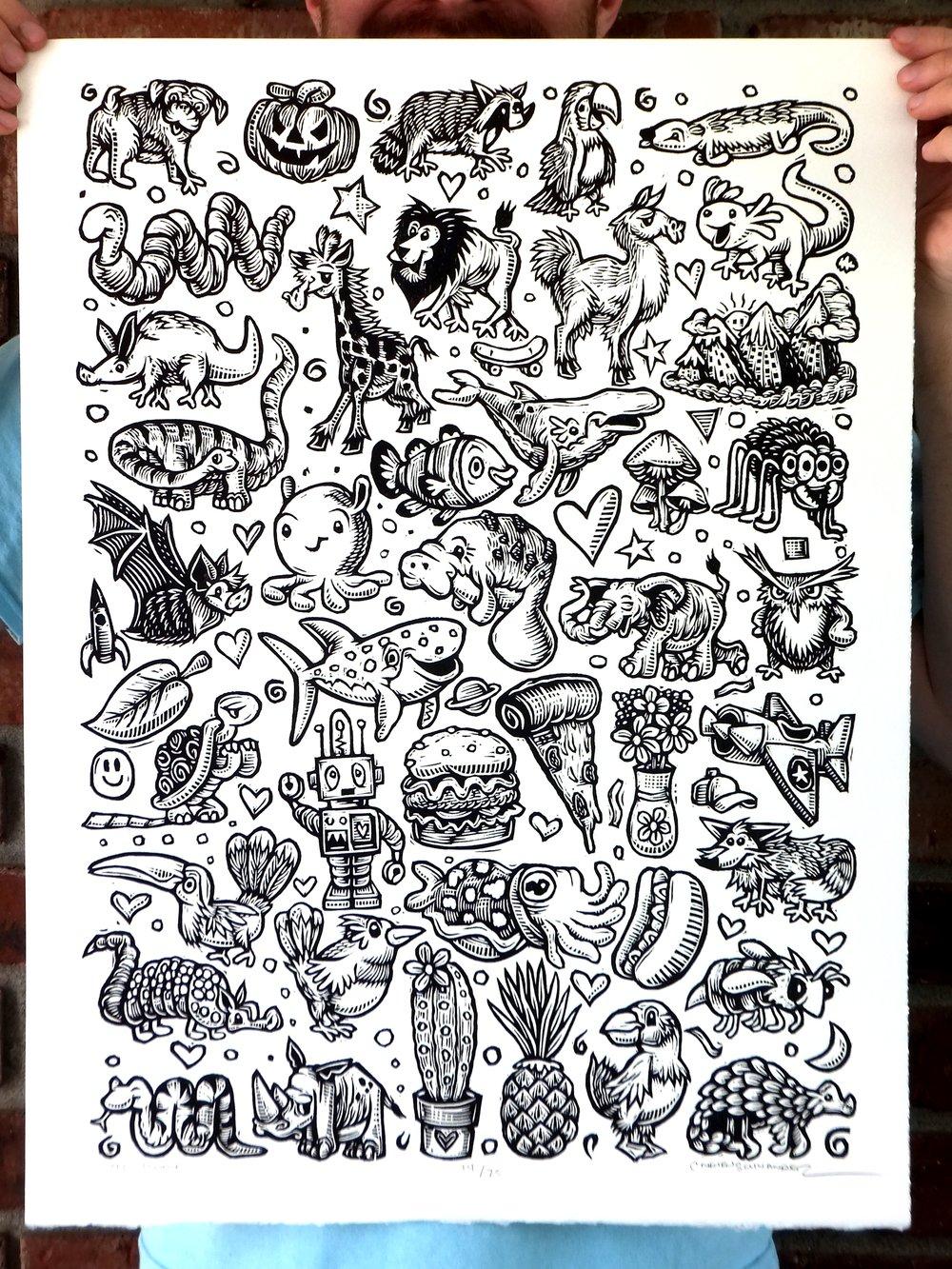 43 Doodles Print