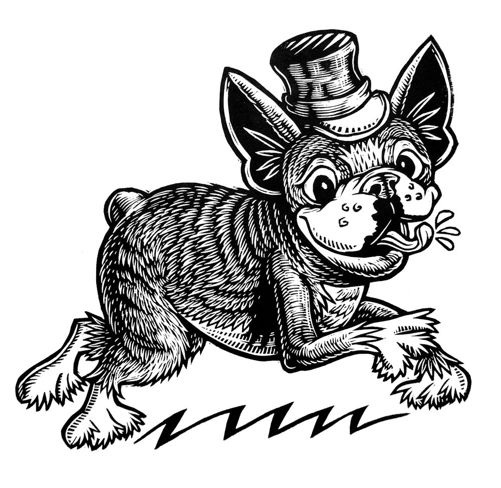 Top Hat Terrier T-shirt (A3) **FREE SHIPPING**