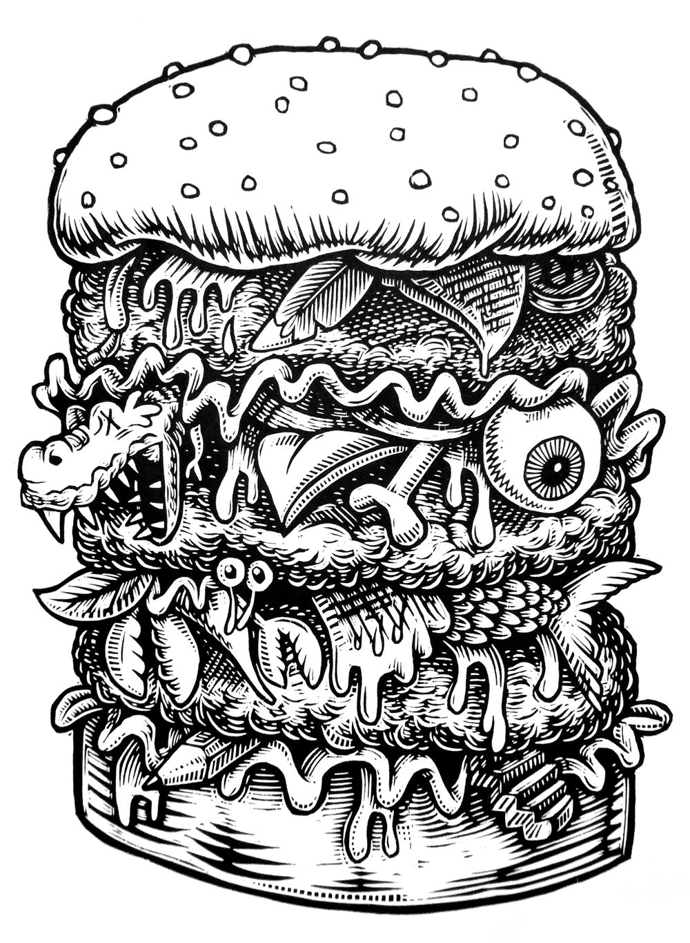 Everything Burger T-shirt (A3) **FREE SHIPPING