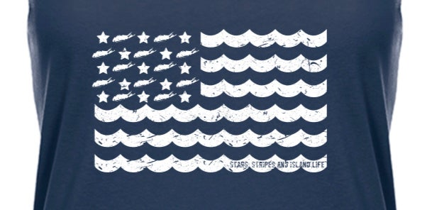 Image of Stars, Stripes & Island Life Women's Tank Top