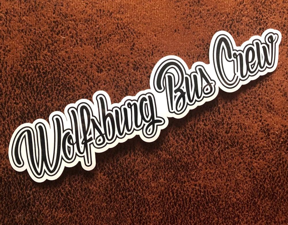 Image of Wolfsburg Bus Crew Black & White High Gloss Sticker