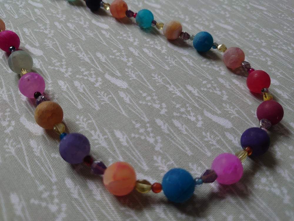 Frosted Agate Jewellery Set