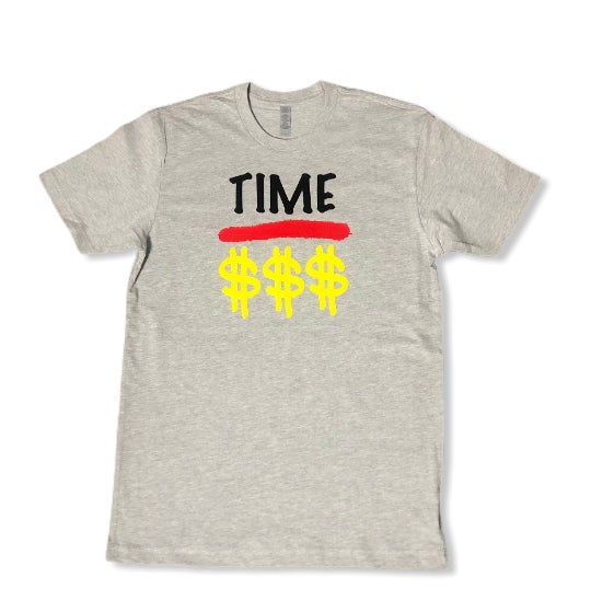 "Gray ""Time Over Money"" Tee"