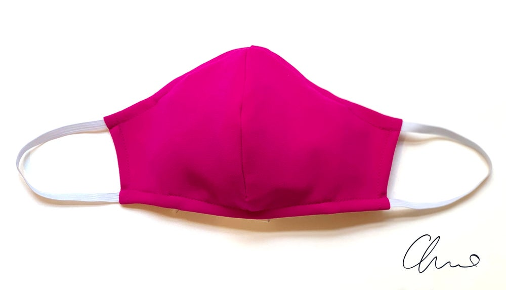 Image of Fitted Mask 3 Pack - Fuchsia - Large