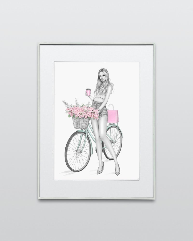 Image of CYCLE CHIC - LIMITED EDITION GICLEE PRINT A5/A4/A3
