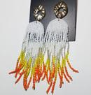 Image 2 of   Creamsicle Drip Earrings