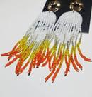 Image 3 of   Creamsicle Drip Earrings